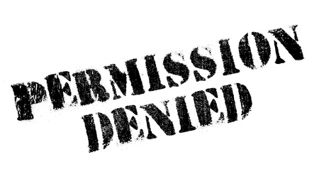 dispensation: Permission Denied rubber stamp Illustration