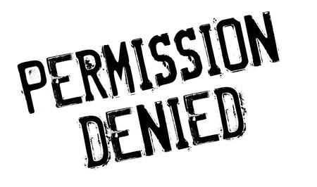 approbation: Permission Denied rubber stamp Illustration
