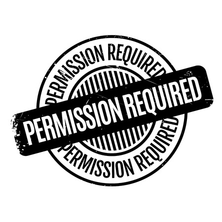 permission: Permission Required rubber stamp