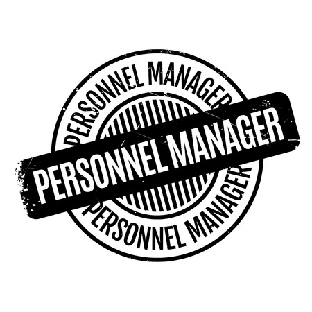 corps: Personnel Manager rubber stamp Illustration
