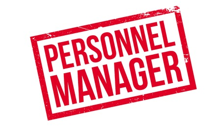 Personnel Manager rubber stamp