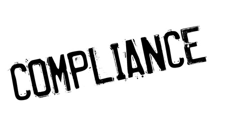 concordance: Compliance rubber stamp. Grunge design with dust scratches. Effects can be easily removed for a clean, crisp look. Color is easily changed.