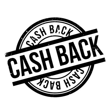 optimum: Cash Back rubber stamp. Grunge design with dust scratches. Effects can be easily removed for a clean, crisp look. Color is easily changed.
