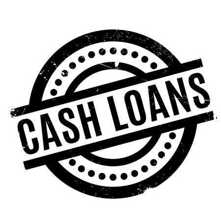 Cash Loans rubber stamp. Grunge design with dust scratches. Effects can be easily removed for a clean, crisp look. Color is easily changed. Illustration