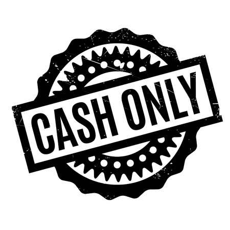 purely: Cash Only rubber stamp. Grunge design with dust scratches. Effects can be easily removed for a clean, crisp look. Color is easily changed.