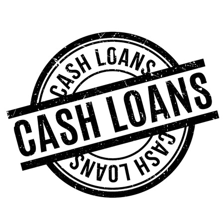 Cash Loans rubber stamp. Grunge design with dust scratches. Effects can be easily removed for a clean, crisp look. Color is easily changed. Stock Photo
