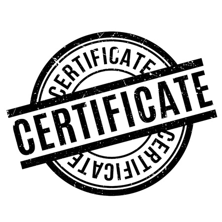 attestation: Certificate rubber stamp. Grunge design with dust scratches. Effects can be easily removed for a clean, crisp look. Color is easily changed.