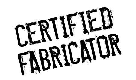 authenticate: Certified Fabricator rubber stamp. Grunge design with dust scratches. Effects can be easily removed for a clean, crisp look. Color is easily changed. Illustration