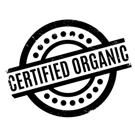 endorse: Certified organic rubber stamp. Grunge design with dust scratches. Effects can be easily removed for a clean, crisp look. Color is easily changed. Illustration