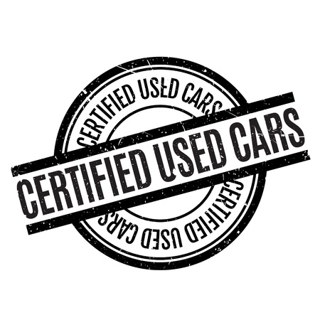 Certified Used Cars rubber stamp. Grunge design with dust scratches. Effects can be easily removed for a clean, crisp look. Color is easily changed. Illustration