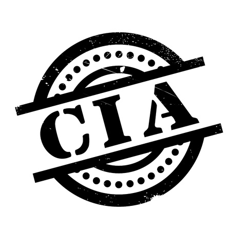 conspire: Cia rubber stamp. Grunge design with dust scratches. Effects can be easily removed for a clean, crisp look. Color is easily changed. Illustration