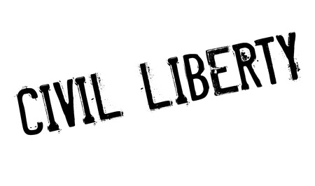 arbitrary: Civil Liberty rubber stamp. Grunge design with dust scratches. Effects can be easily removed for a clean, crisp look. Color is easily changed. Illustration