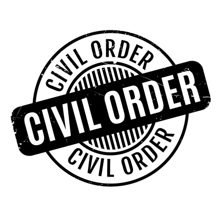 asbo: Civil Order rubber stamp. Grunge design with dust scratches. Effects can be easily removed for a clean, crisp look. Color is easily changed.