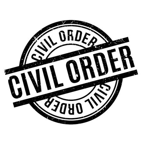 offence: Civil Order rubber stamp. Grunge design with dust scratches. Effects can be easily removed for a clean, crisp look. Color is easily changed.