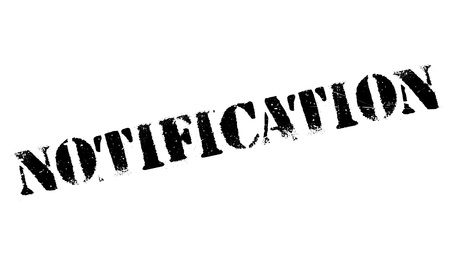 Notification rubber stamp
