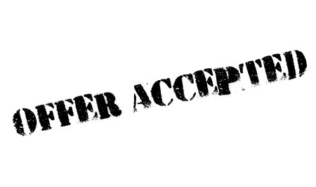 accepted: Offer Accepted rubber stamp