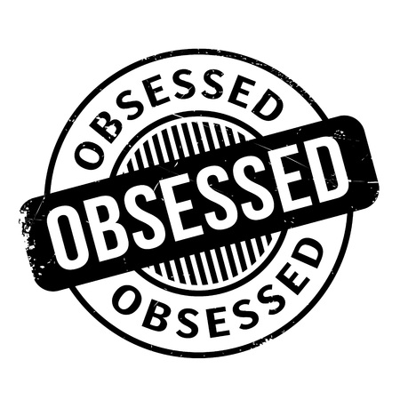 Obsessed rubber stamp Фото со стока - 68344119