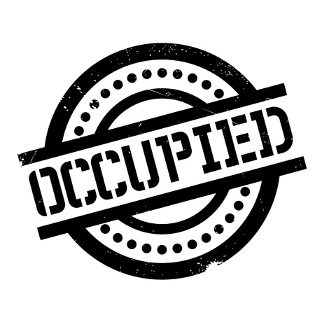 occupied: Occupied rubber stamp