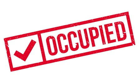 invade: Occupied rubber stamp