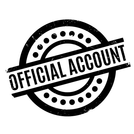 endorsed: Official Account rubber stamp