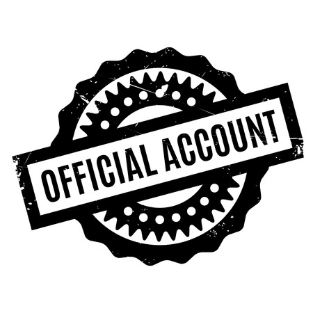 account: Official Account rubber stamp