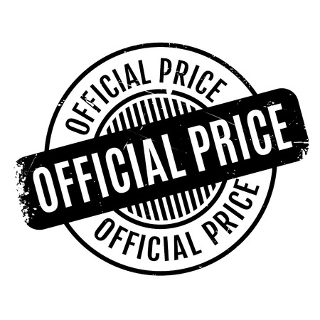 authoritative: Official Price rubber stamp Illustration