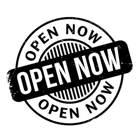 now: Open Now rubber stamp