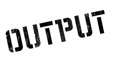 turnout: Output rubber stamp Stock Photo