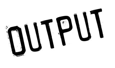 Output rubber stamp Illustration