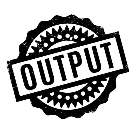 output: Output rubber stamp Illustration