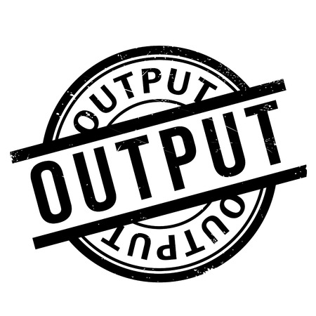 turnout: Output rubber stamp Illustration