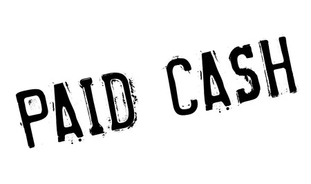 Paid Cash rubber stamp