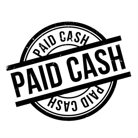 paid: Paid Cash rubber stamp