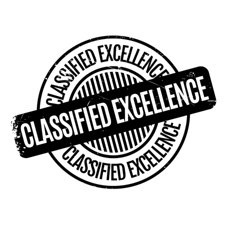 Classified Excellence rubber stamp. Grunge design with dust scratches. Effects can be easily removed for a clean, crisp look. Color is easily changed. 向量圖像