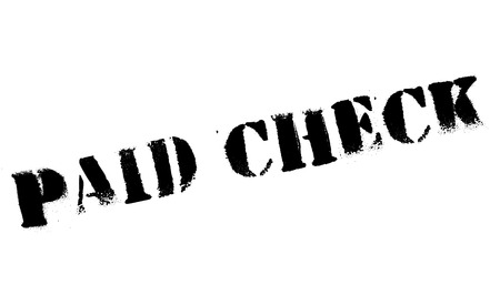 paid: Paid Check rubber stamp