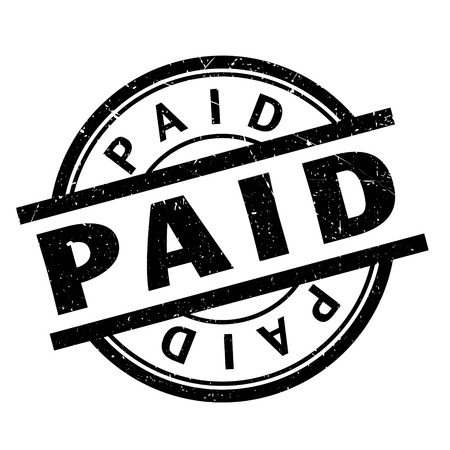 paid: Paid rubber stamp