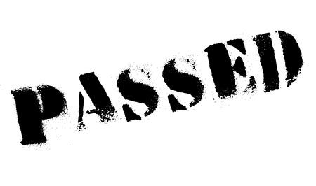 excel: Passed rubber stamp Illustration