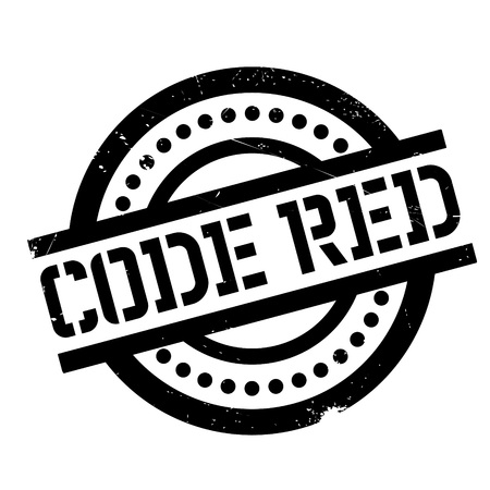 Code Red rubber stamp. Grunge design with dust scratches. Effects can be easily removed for a clean, crisp look. Color is easily changed. Illustration
