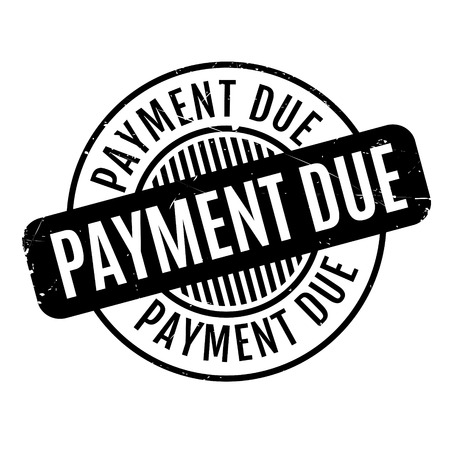 Payment Due rubber stamp. Grunge design with dust scratches. Effects can be easily removed for a clean, crisp look. Color is easily changed. Illustration