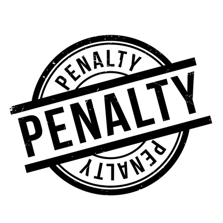 penalty: Penalty rubber stamp. Grunge design with dust scratches. Effects can be easily removed for a clean, crisp look. Color is easily changed. Illustration