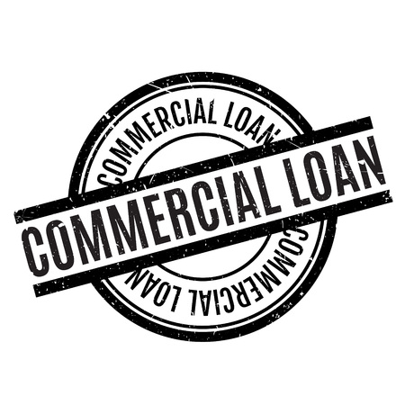 lodging: Commercial Loan rubber stamp. Grunge design with dust scratches. Effects can be easily removed for a clean, crisp look. Color is easily changed.