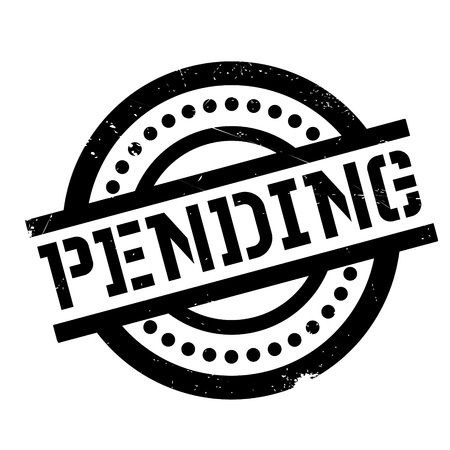 imminent: Pending rubber stamp. Grunge design with dust scratches. Effects can be easily removed for a clean, crisp look. Color is easily changed.