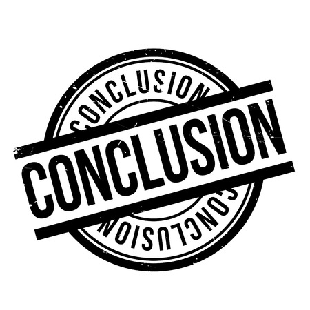 conclude: Conclusion rubber stamp. Grunge design with dust scratches. Effects can be easily removed for a clean, crisp look. Color is easily changed.