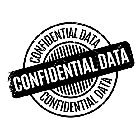 hushed: Confidential Data rubber stamp. Grunge design with dust scratches. Effects can be easily removed for a clean, crisp look. Color is easily changed. Illustration