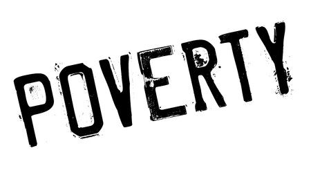 poverty: Poverty rubber stamp