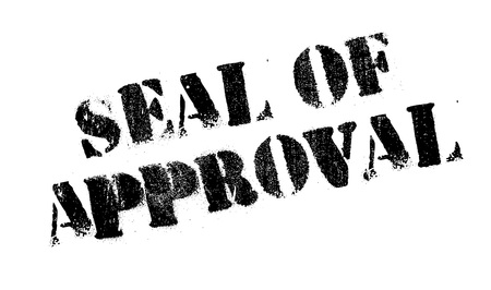 seal of approval: Seal Of Approval rubber stamp