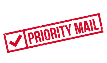 priority: Priority Mail rubber stamp