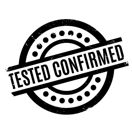 hardened: Tested Confirmed rubber stamp Illustration