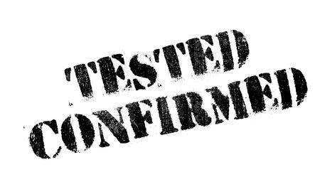confirmed: Tested Confirmed rubber stamp Illustration