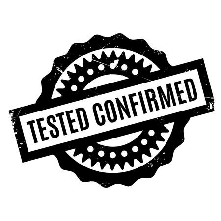 tested: Tested Confirmed rubber stamp Illustration